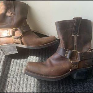 Frye harness ankle boots